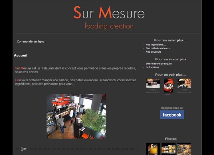 Site internet – Restaurant Sur-Mesure