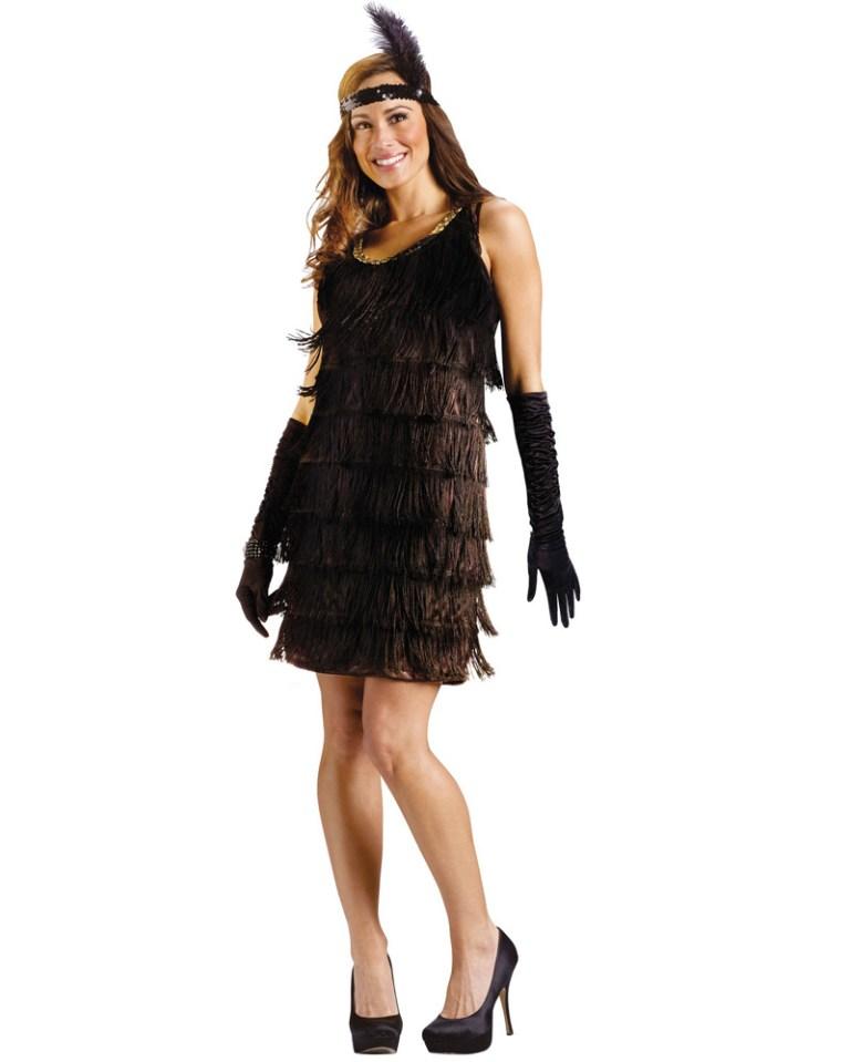 C577 Ladies Black Flapper Chicago 20s 1920s Fancy Dress ...
