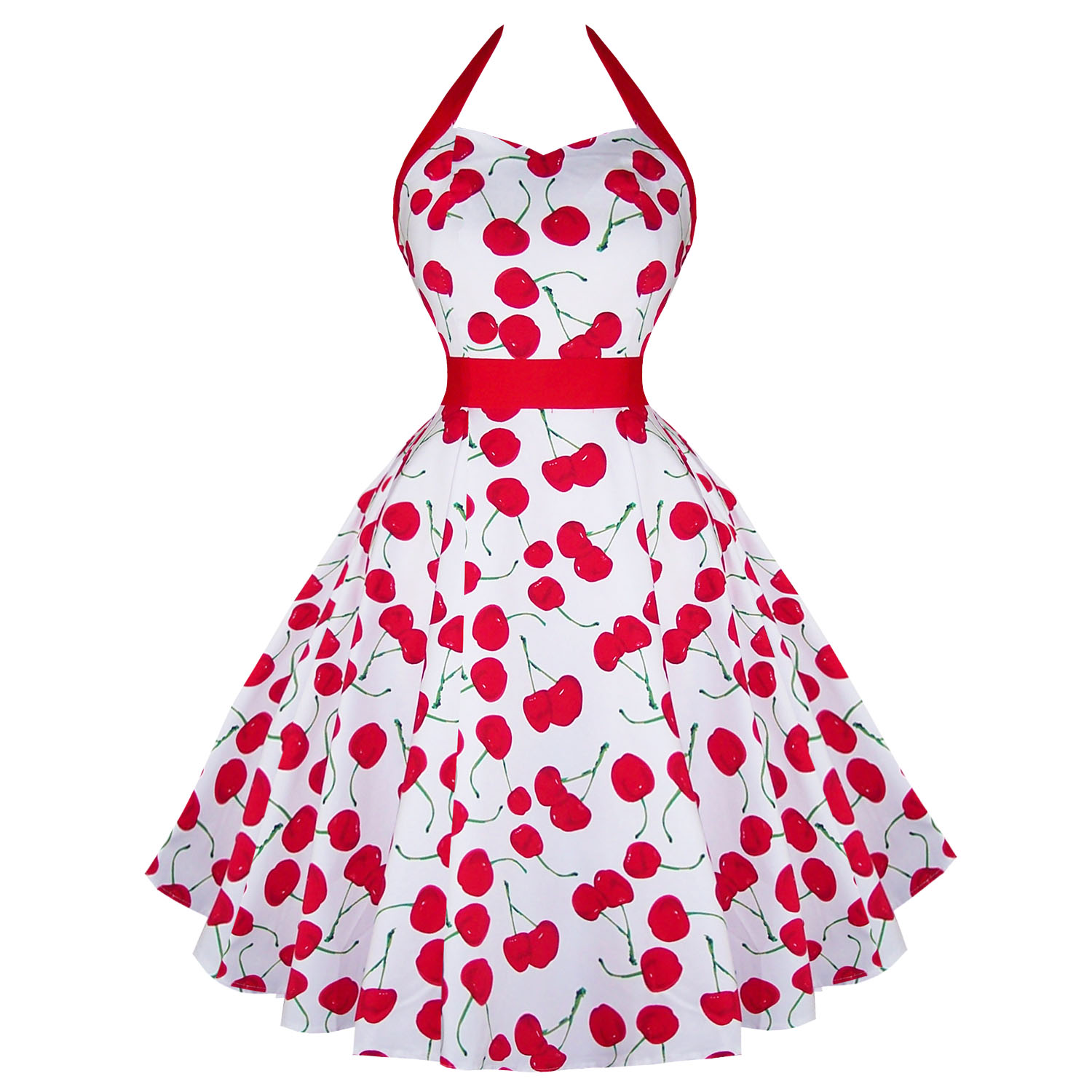 Rkh57 Hearts And Roses H Amp R Cherry Rockabilly Dress Pin Up