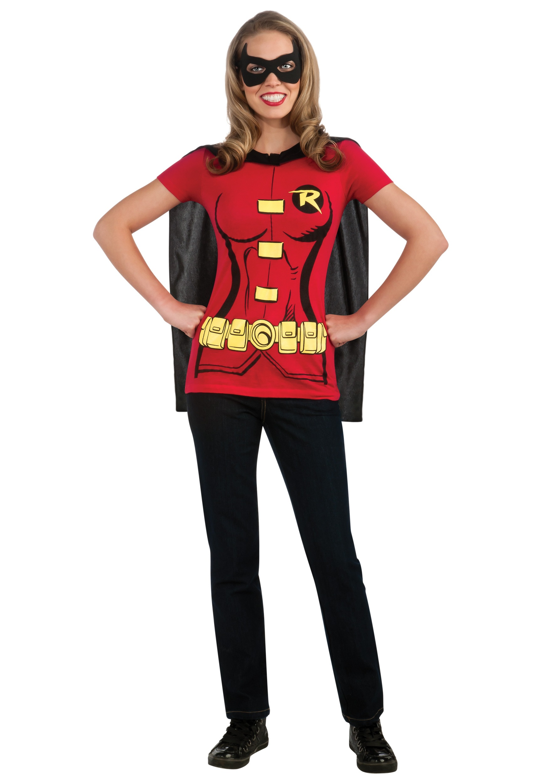 C956 Superhero T Shirt Women Costume Wonder Woman Robin