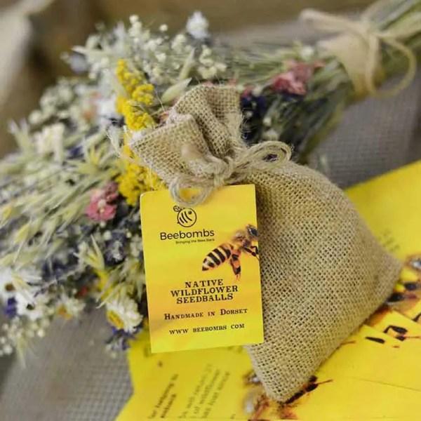 bee bomb flower seedballs 1
