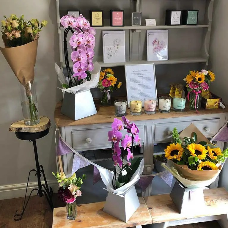blossom branch florist shop display 1