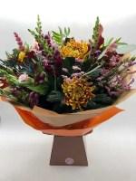 boxed flower bouquet autumn colours 3