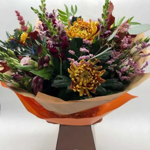 boxed flower bouquet autumn colours 3