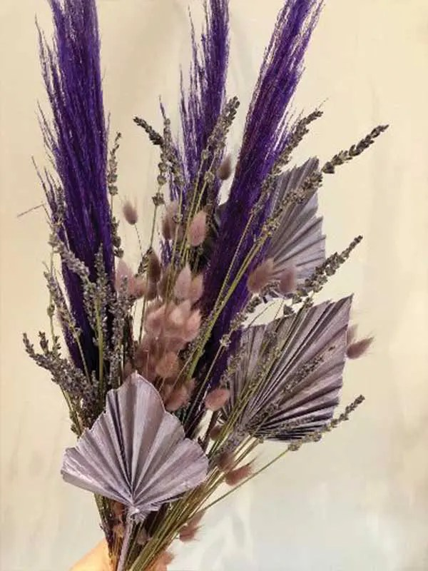 parma violet dried flower bouquet 2