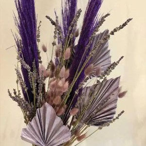 parma violet dried flower bouquet 2