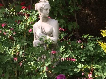 Sculpture in the winter garden