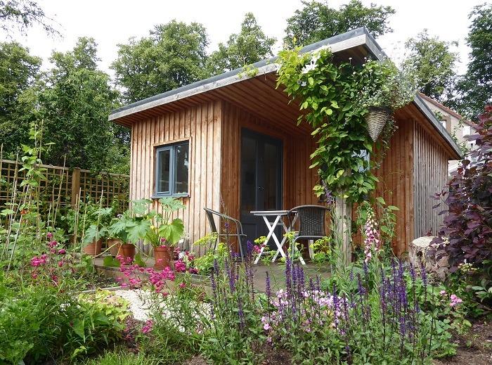 Cottage garden design with studio East Lothian