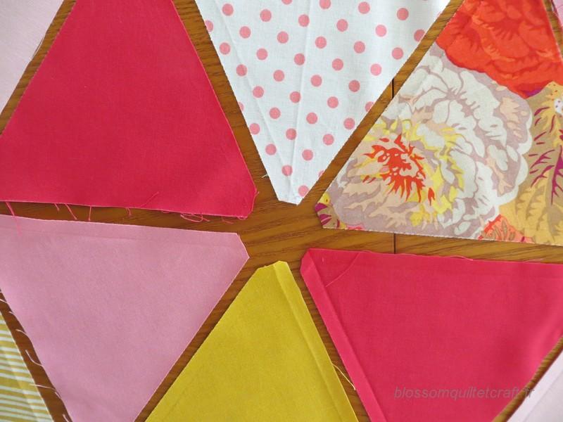 decouper des triangles pour quilt