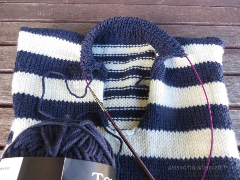 tricot detail col