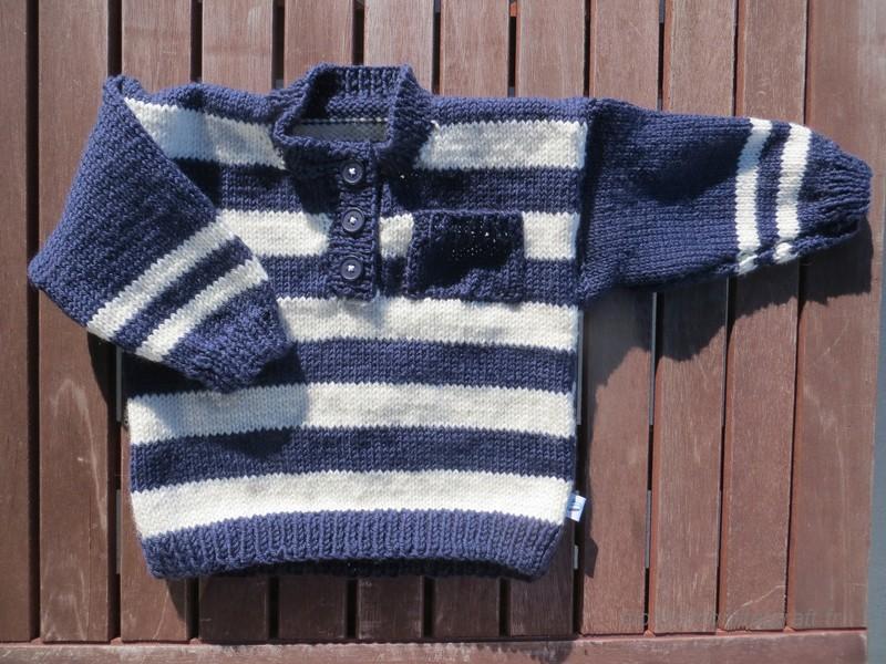 tricot pull marin