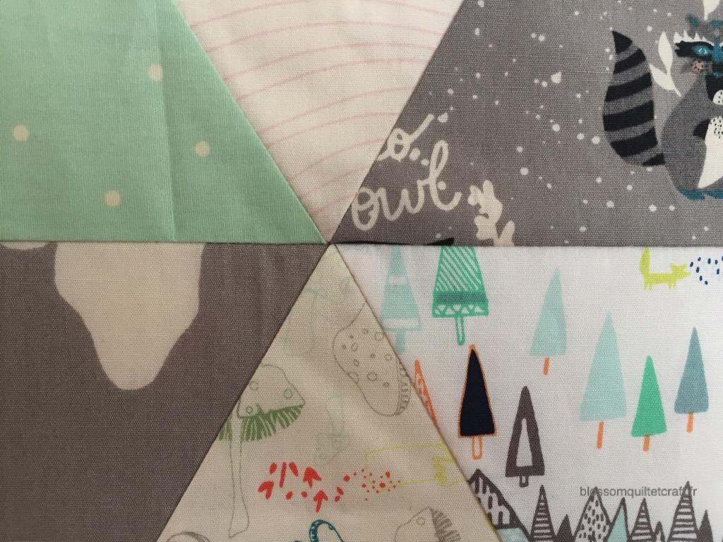 coudre pointes de triangles patchwork