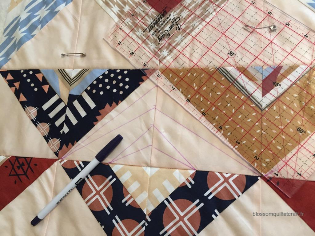tracer les motifs de pique libre pour patchwork modernes