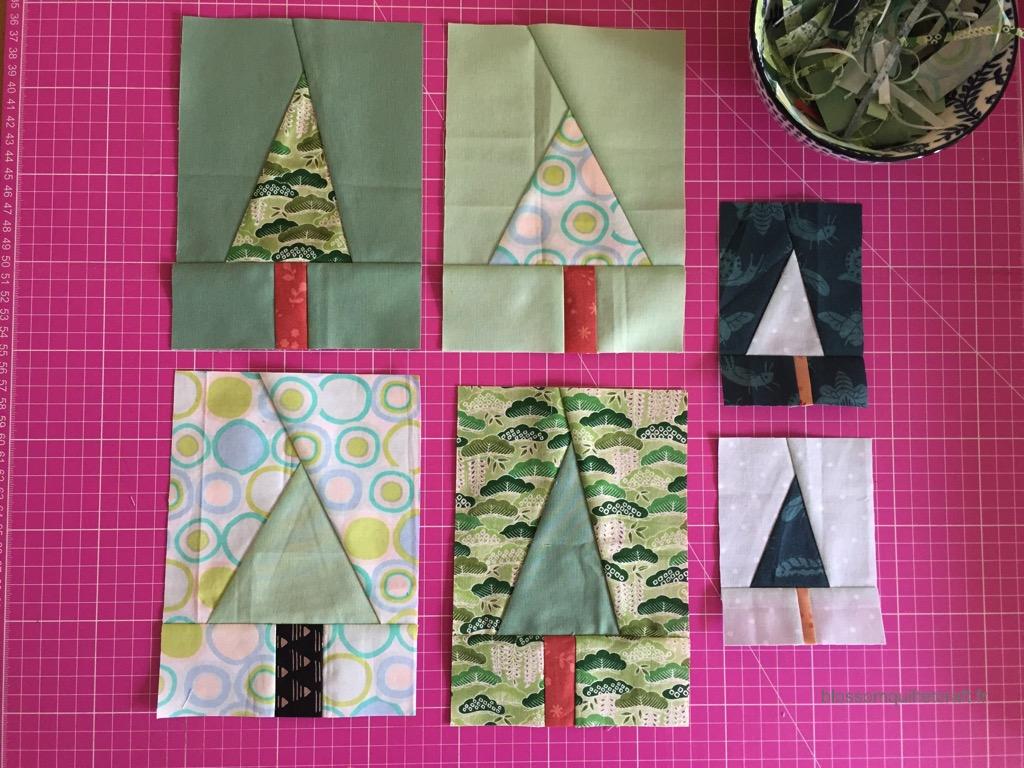 blocs sapin improvisation patchwork