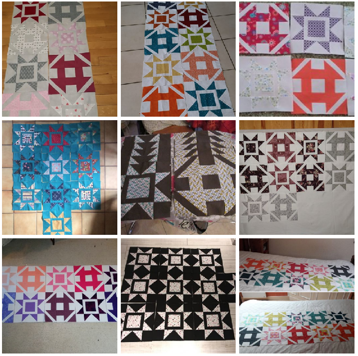 Dashing Corriander quilt etape 1 B