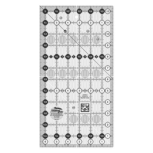 Règle patchwork Creative Grids : 6 ½ x 12 ½ inches