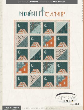 Campsite patron patchwork gratuit moderne