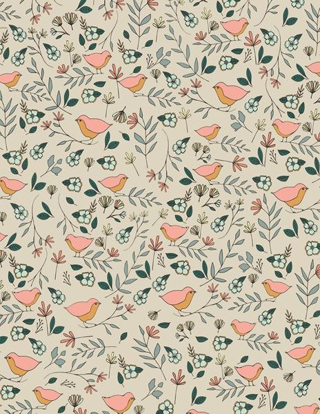 Art Gallery Fabrics LVS - Lovebirds Celeste