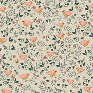 Art Gallery Fabrics LVS - Lovebirds Celeste