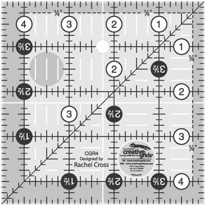 4,5 inches creative grids carré