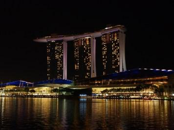 Le Marina Sand de Singapour nuit