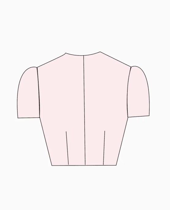 jewel neck back open design 1 back blouse guru