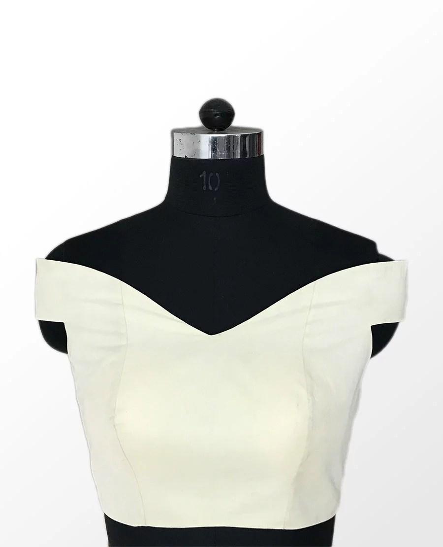 Off Shoulder Blouse Front Sewing Patterns