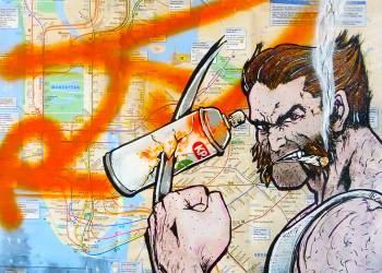 Des graffitis sur des plans de métro : le nouveau support