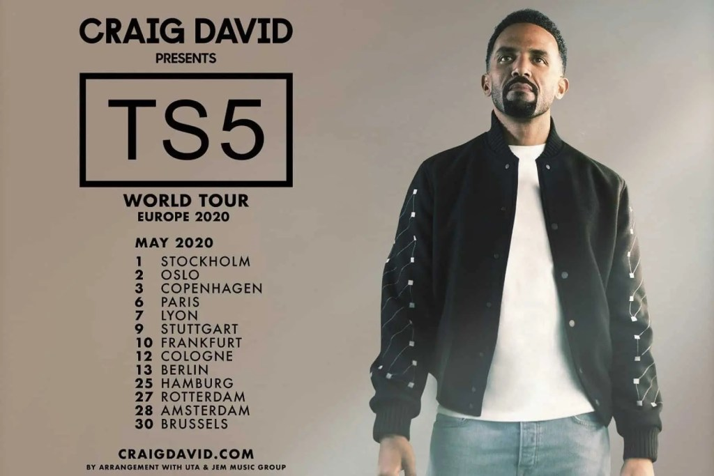 Craig David presents TS5: tour