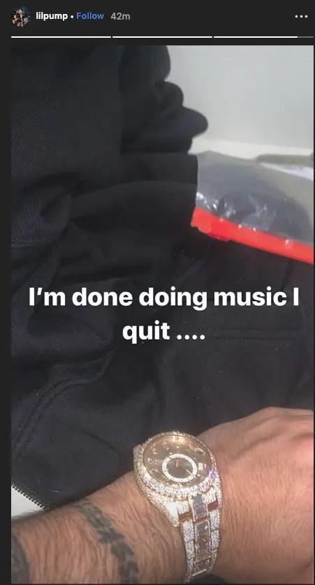 Lil Pump annonce sa retraite !