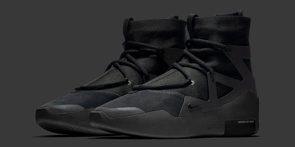 "Nike Air Fear Of God 1 ""Triple Black"" Date de sortie mise à jour"