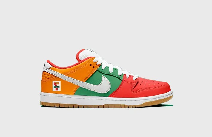 Une collaboration Nike SB Dunk Low x 7-Eleven en route