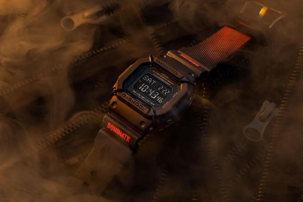 Dominate x G-SHOCK DW5600-P prend exemple sur les vestes Ma-1