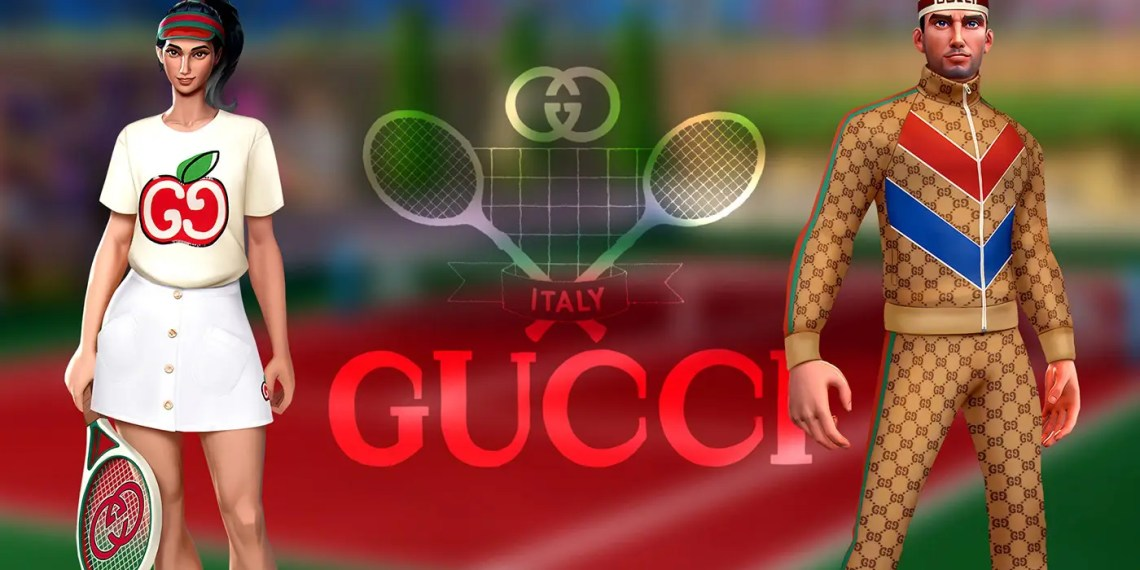 Gucci annonce sa collaboration avec Tennis Clash