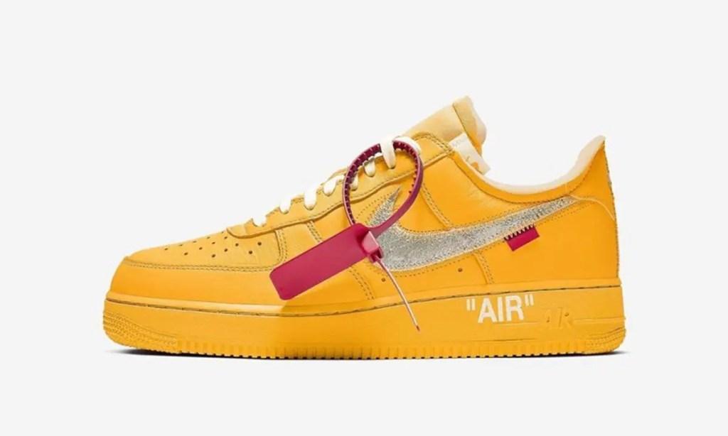 "La Off-White x Nike Air Force 1 Low ""University Gold"" pour 2021 ?"