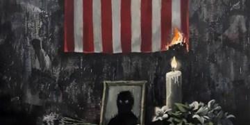 Banksy publie une puissante œuvre d'art suite au meurtre de George Floyd