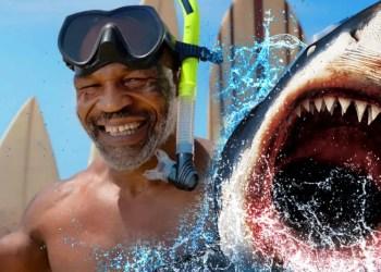 """Mike Tyson va combattre un grand requin blanc pour la """" Shark Week """"."""