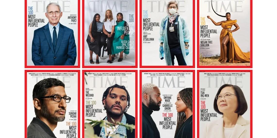 """""""TIME"""" dévoile les 100 personnes les plus influentes de 2020"""