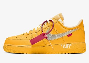 """Off White x Nike Air Force 1 """"University Gold"""""""