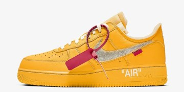 "Off White x Nike Air Force 1 ""University Gold"""