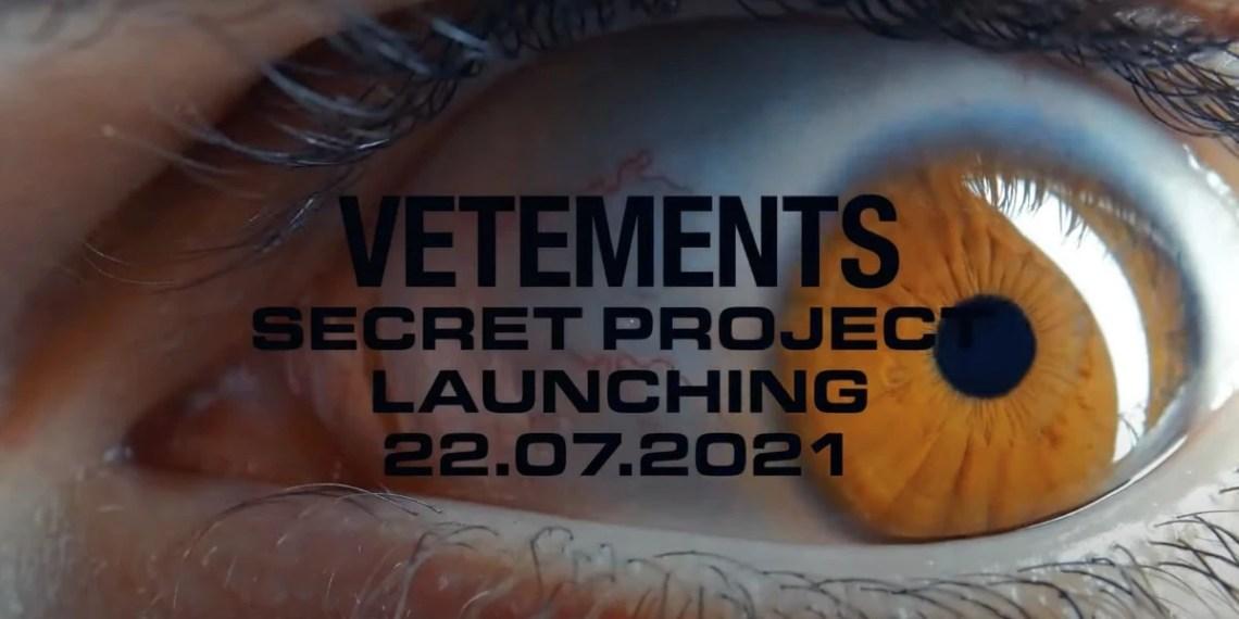 """VETEMENTS """"secret project"""" marque"""