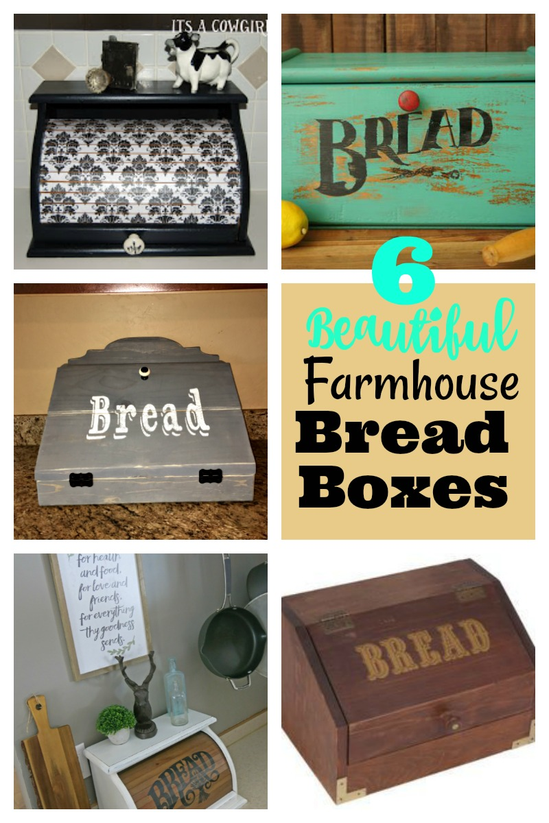 6 Beautiful Farmhouse Bread Boxes