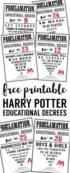 Free Harry Potter Printable at Paper Trail Design.com