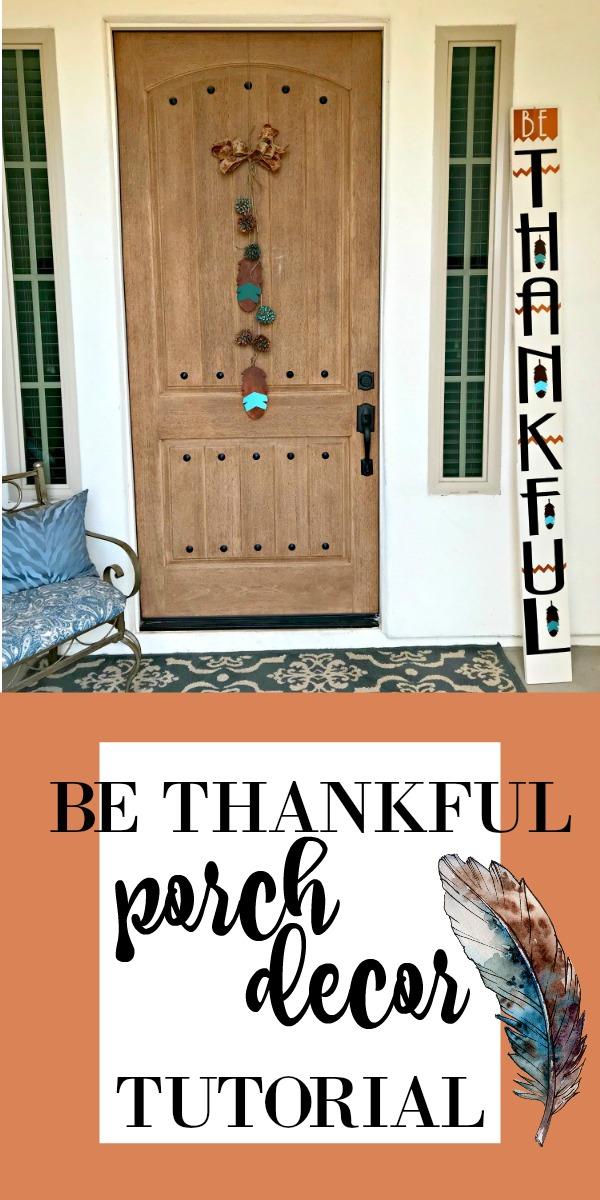 Be Thankful Door Sign Tutorial!