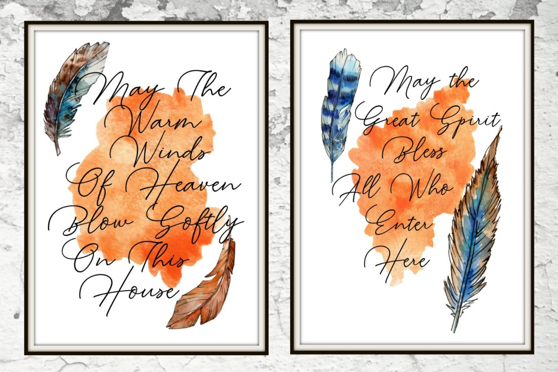 Free printables! Beautiful Native American Blessings.