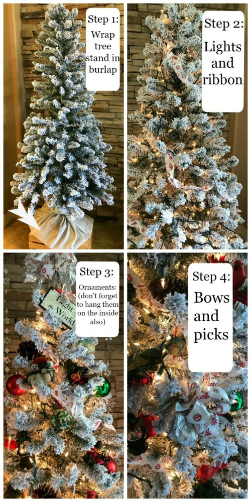 Christmas Tree Design: March of the Toy Soldiers   blowingawayoutwest.com - Toy soldier and woodland forest inspired tree design. #christmastree #christmastreedecorations #christmastreeornaments #nutcracker #holidaytree #christmasdisplay #12daysofchristmas
