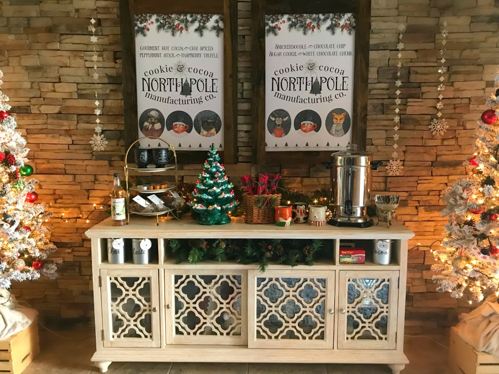 North Pole Cookie & Hot Cocoa Bar is Party Ready