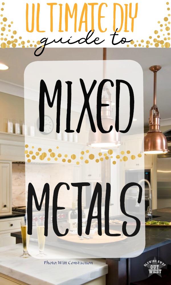 Ultimate DIY Guide to Mixed Metals | blowingawayoutwest.com -How to Mix Metals in Home Decor #mixedmetals #brushedcopper #diyguide #metallicwallpaper #metallicdecor