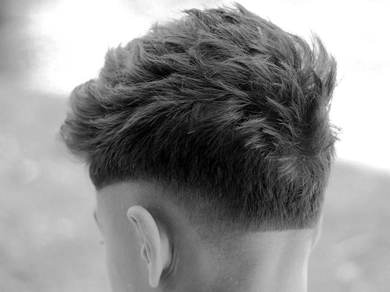 6. Textured Crop Bald Fade Hair Design