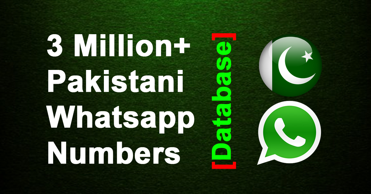 3 Million Pakistani Whatsapp Phone Numbers Database